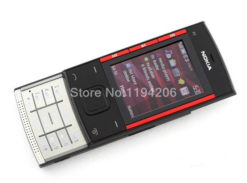 Refurbished nokia x3-00 3.2MP 2.2-inch 860mAh bluetooth camera phone red 2