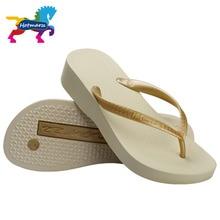 Hotmarzz Womens Home Solid Platform Flip Flops Slippers Wedges Thong Anti-slip Sandals Ladies House Flip-flop