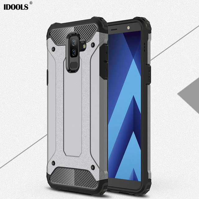 uk availability 075c5 ced43 US $4.98 |LOKAKA Case For Samsung Galaxy J8 2018 Back Cover J8 2018 Full  Protect 2 in 1 Armor Phone Bags Cases For Samsung J8 2018 Shell-in Fitted  ...