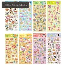 Happy Time Cute Yummy Food Adhesive Stickers Scrapbooking DIY Decoration Stickers Mobile Phone Stickers