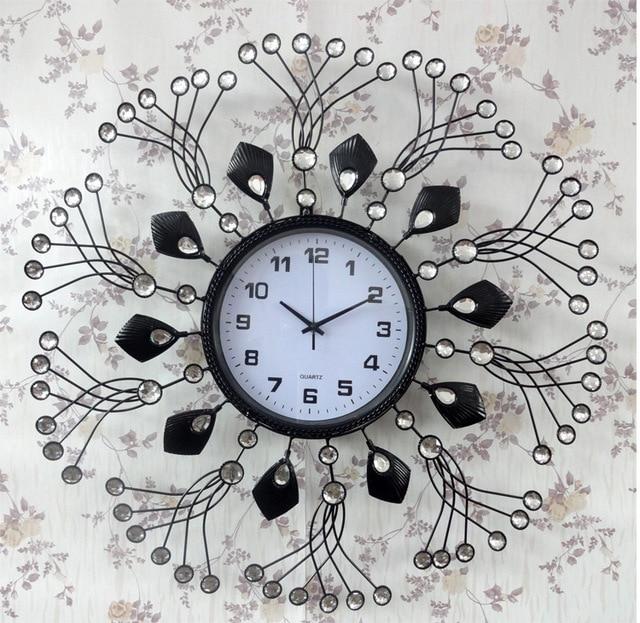 Wall Clock Modern Style Metal Art Acrylic Decoration Stainless Steel Iron Design