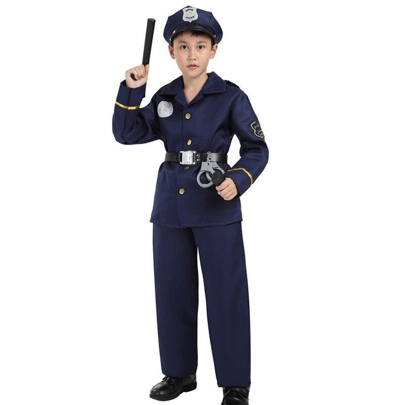COPS//ROBBERS POLICE BOY FANCY DRESS COSTUME BOYS