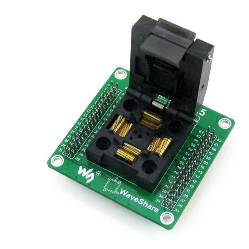 ФОТО GP-QFP64-0.5 IC Test Socket Programming Adapter for QFP64 TQFP64 LQFP64 0.5Pitch Free Shipping