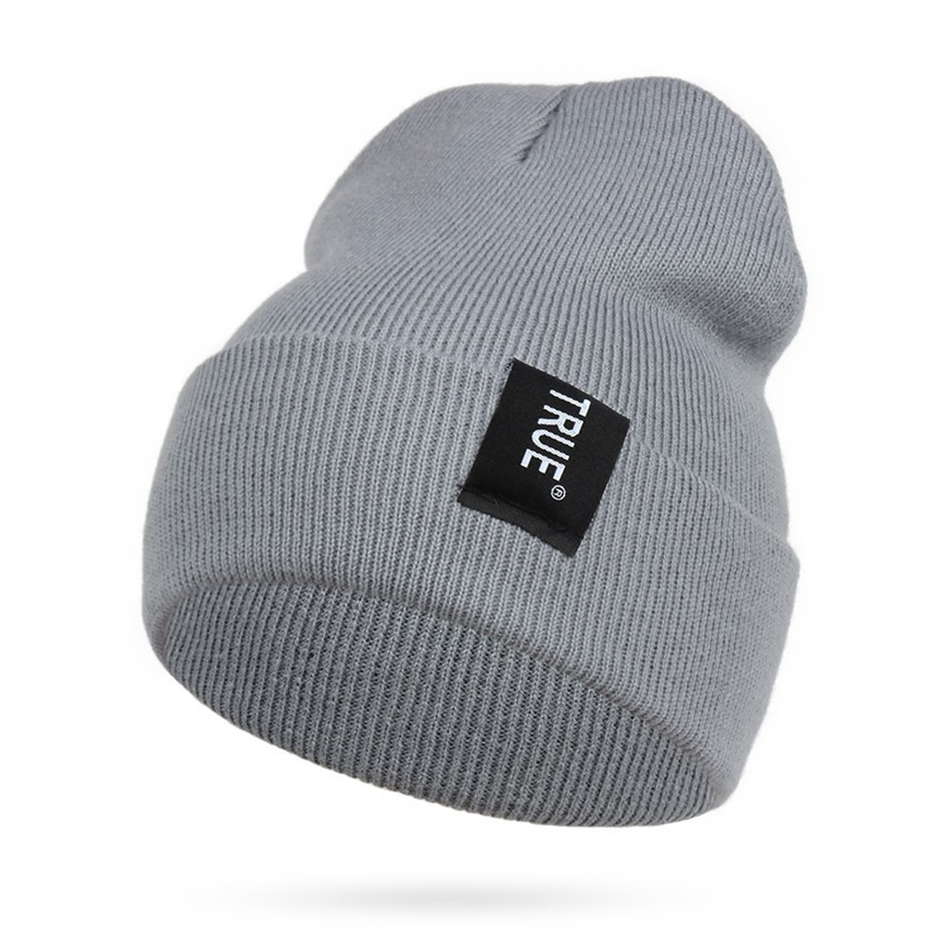 Letter True Men's Skullies Bonnet Winter Beanie Knitted Wool Hat Baggy Knitted Hats Ski Beanies Gorro Headgear Female Cap rwby letter hot sale wool beanie female winter hat men