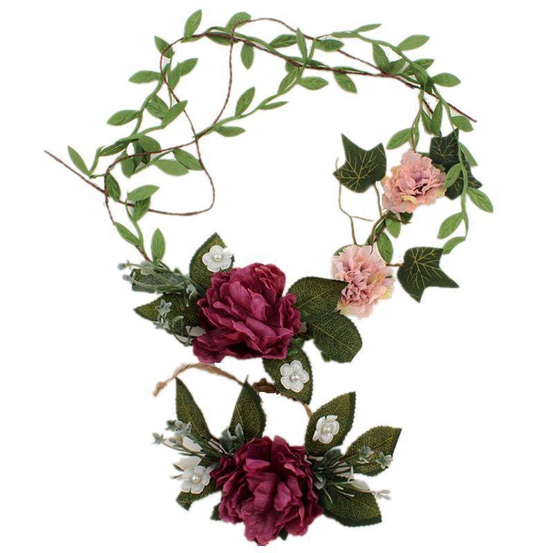 Artificial Flower For Wedding Crown Women Bride Wedding Wreath Head Flowers Wrist Flower Corsage Girl Hair Accessories