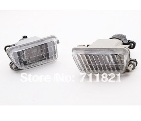 Clear Glass Fog Light For VW Jetta MK2 Golf MK2 Big Bumper