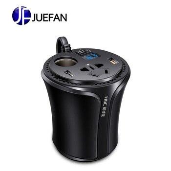 Auto inverter 12V a 220V dual USB caricabatteria da auto presa di QC3.0 caricatore punto di fumo foro
