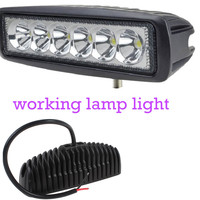 Hot Sell 2pcs Spot 12V 6 Inch 18W LED Work Light For Indicators Motorcycle Driving