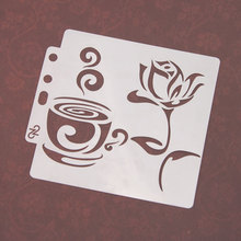 Cup Coffee Flower Sticker Painting Stencils for Diy Scrapbooking Stamps Home Decor Paper Card Template Decoration Album Crafts cup coffee flower sticker painting stencils for diy scrapbooking stamps home decor paper card template decoration album crafts