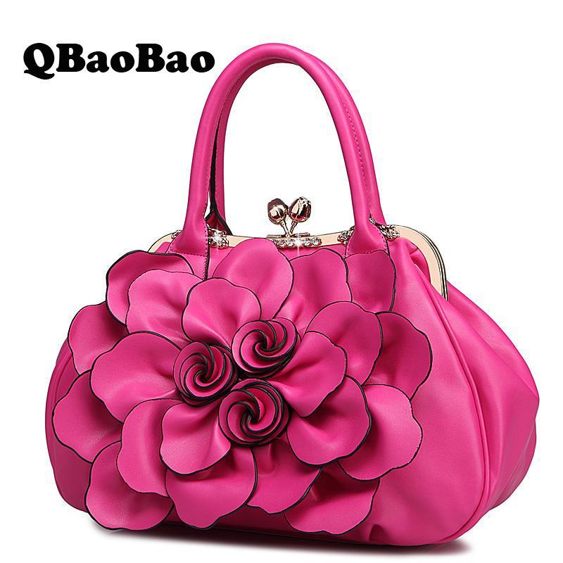 New Flower Women Bag Sweet Fresh Lady Handbag Casual White/pink/black/red Fashion Female Crossbody Bag For Women