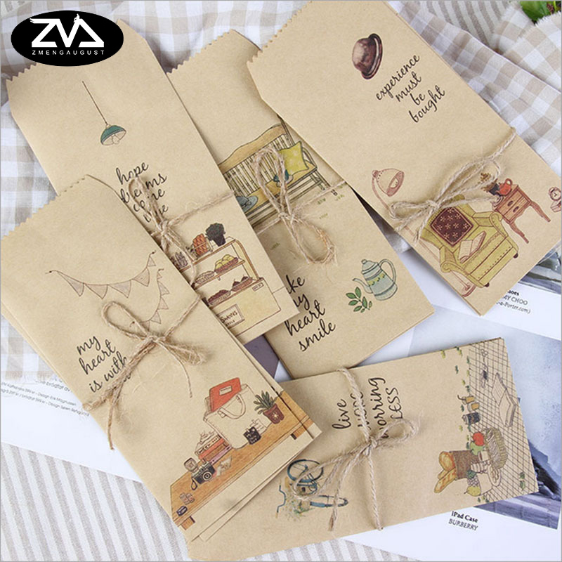 5pcs/lot Simple life envelope writing paper stationery kawaii birthday christmas cpostcard Gift cards Graffiti DIY Stationery 1box lot christmas gift christmas season organ folding christmas cards paper crafts scrapbooking cards gifts decoraiton