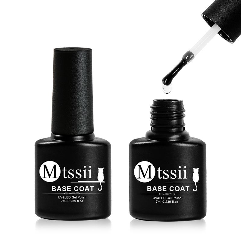 Mtssii 7ml Base Coat Soak Off Gel Nail Polish UV LED Lamp Needed Long Lasting Foundation Nail Gel Varnish Nail Art Manicure