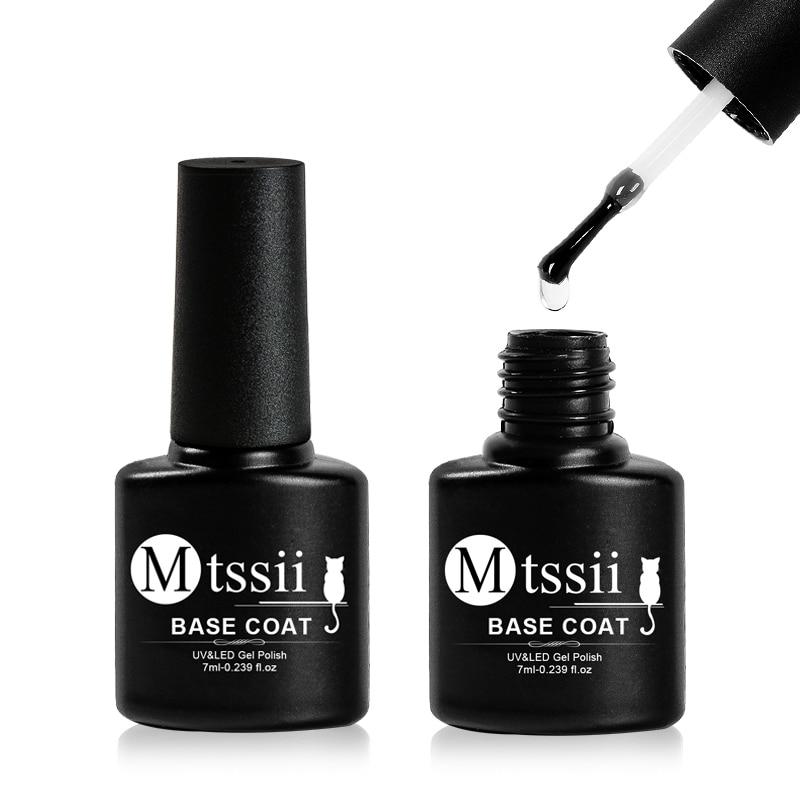 Mtssii 7ml Base Coat Soak Off Gel Nail Polish UV LED Lamp Needed Long Lasting Foundation Nail Gel Varnish Nail Art Manicure