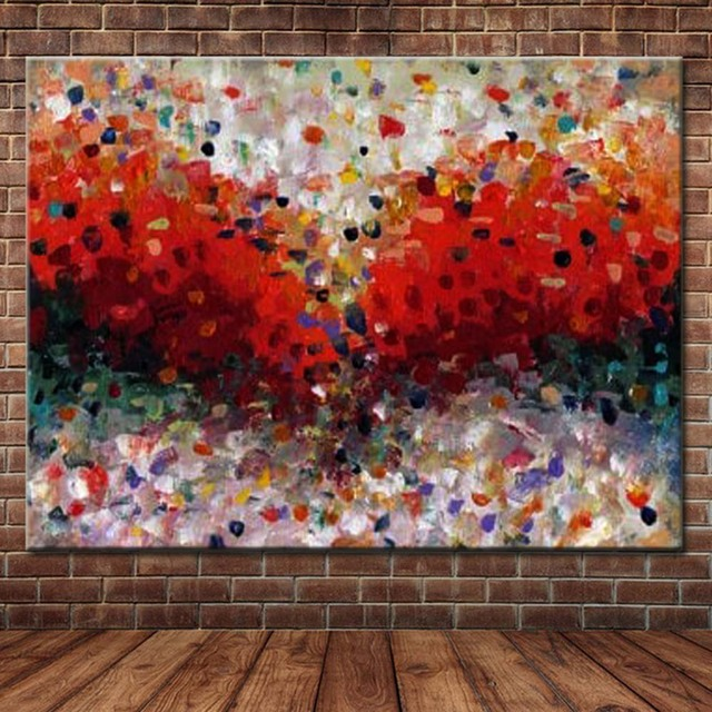 Awesome Us 29 71 47 Off Hand Painted Modern Abstract Canvas Art Red Color Oil Painting Abstract Red Wall Picture Living Room Bedroom Home Wall Decor Art In Home Interior And Landscaping Staixmapetitesourisinfo