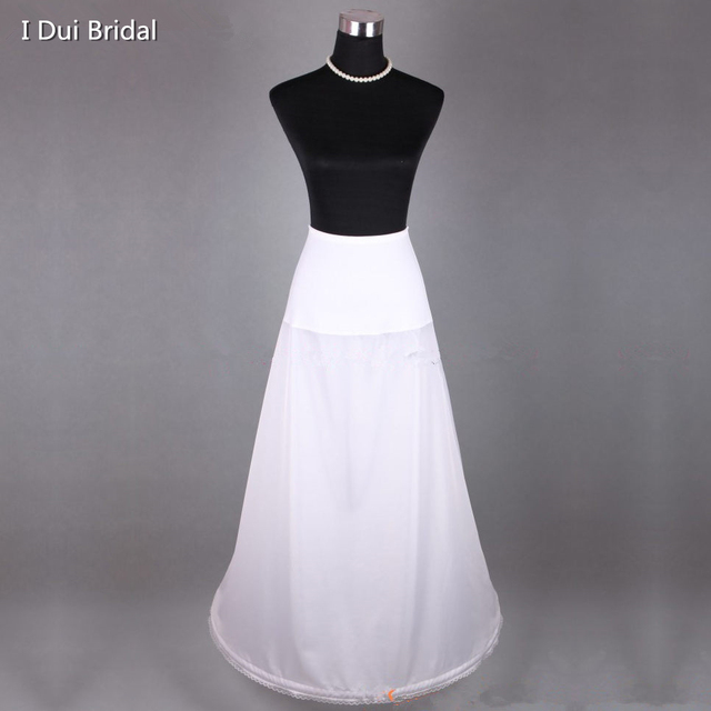 A Line One Circle Hoop Petticoat Underskirt Wedding Dress Slip Spandex Stretch Waist
