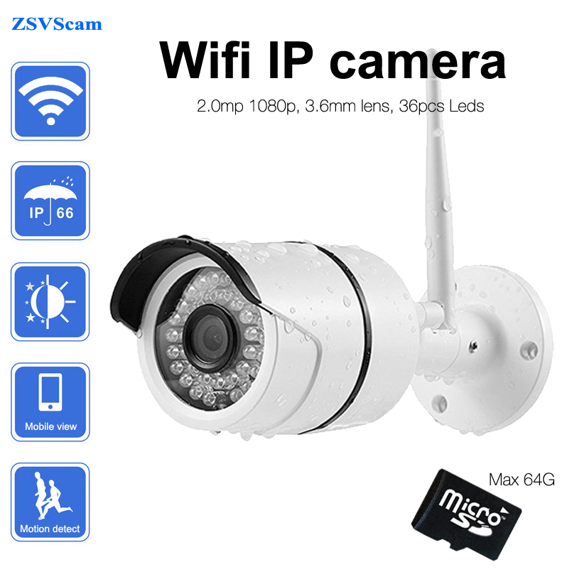 1080p 2mp outdoor bullet wifi ip camera support SD card storage with Yoosee App onvif network wireless security camera bullet camera tube camera headset holder with varied size in diameter