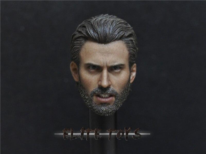 "Custom 1/6 Scale Avengers 3: Infinity War Captain America Steve Rogers head Sculpt F 12"" Figure Collection"