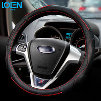 Hot Sell Leather Auto Car Steering Wheel Cover 38CM/15'' Anti catch Holder Protector Business Design Breathable For bmw e90