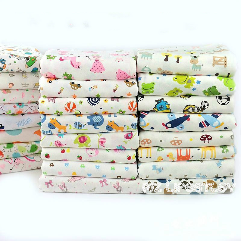 Stretchy Printed cartoon cotton knitting fabric by half meter DIY sewing uphostery baby clothing cotton fabric 50*170cm