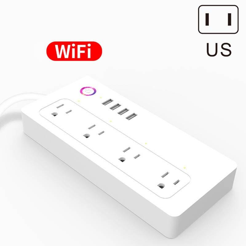 Nouveau WiFi Smart Sortie US Plug 4 USB fonction minuteur Rapide Charge Safe Anti-slip Pour La Maison WWO66
