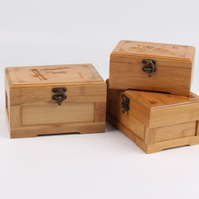 Pure solid wood storage box lockable finishing retro fashion vintage small wooden testificate accessories gift