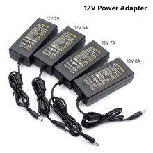 1pcs AC DC 5V 12V 5A 6A 7A 8A Power Supply 60W 96W Adapter Charger 5.5mmx2.1mm For LED Light LCD Monitor CCTV Without Input Line xinmore 87v 8a 7a 6a lead acid batt charger for 72v e bike li ion battery pack ac dc power supply for electric tool