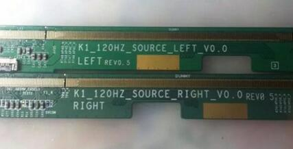 K1-120HZ-SOURCE-RIGHT-V0.0 K1-120HZ-SOURCE-LEFT-V0.0 LCD Panel PCB Part A Pair цена