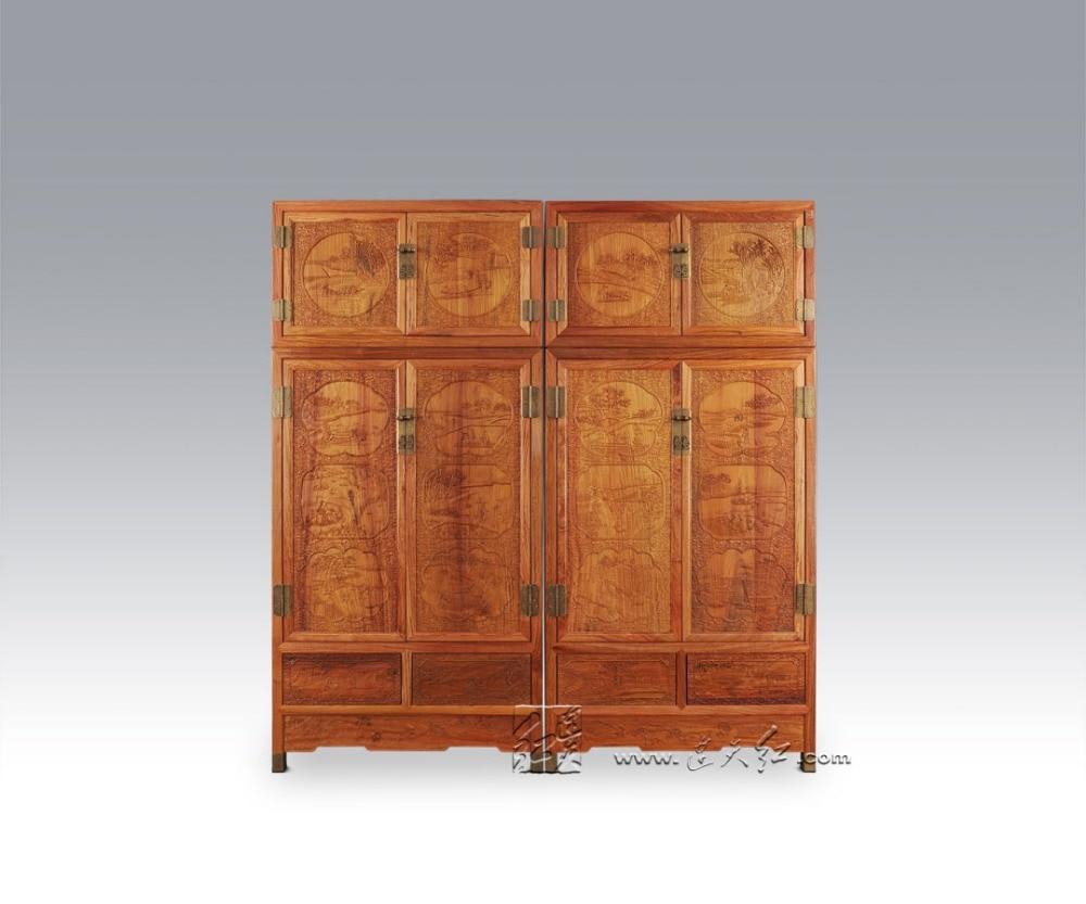 Neue Moderne Massivholz Bett Zimmer Schrank Palisander