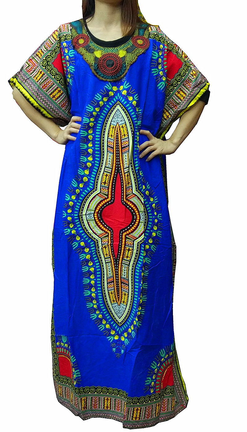 Vintage Women African Traditional Dresses Sexy Floral -2213
