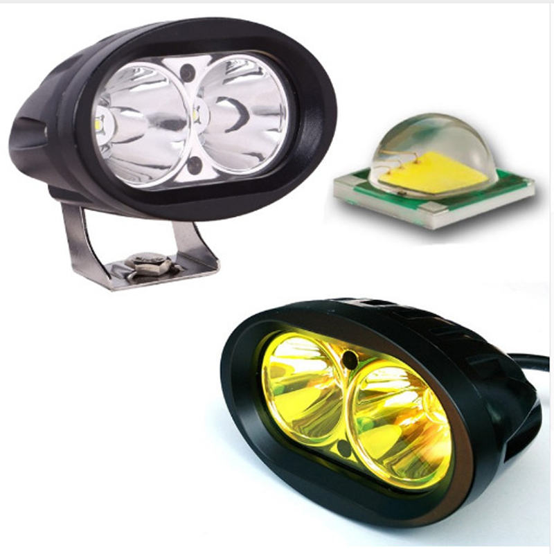 1pcs 4inch 20W Daytime Running Lights OVAL LED Work Light Offroad Driving Fog Lamps for Motorcycle SUV ATV 4WD aqce1 6 inch mini 18w led light bar 12v 24v motorcycle led bar offroad 4x4 atv daytime running lights truck tractor warning work light