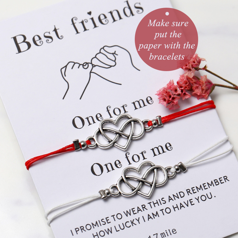 IF YOU Forever Love Friendship Charm Bracelets For Woman Lovers Men Wish Rope Red String Couple Bracelet Best friend Jewelry image