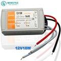 Alta Qualidade DC 12 V 18 W fonte de Alimentação Motorista LEVOU Interruptor Transformador Adaptador Para LED Strip Luzes LED