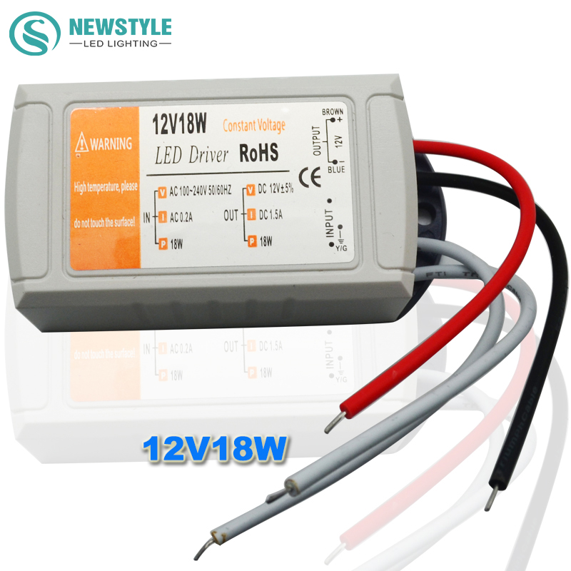 High Quality DC 12V 18W/28W Power Supply LED Driver Adapter Transformer Switch For LED Strip LED Lights