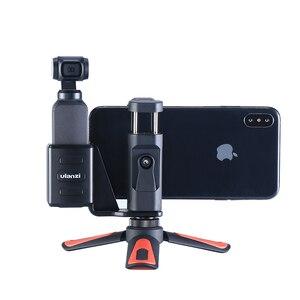 Image 1 - Osmo Pocket Phone Tripod Holder Mount Bracket with Mini Tripod Handgrip for DJI Osmo Pocket gimbal Accessories
