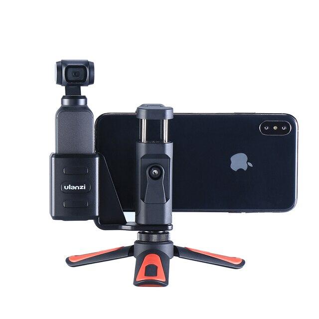 Osmo Pocket Phone Tripod Holder Mount Bracket with Mini Tripod Handgrip for DJI Osmo Pocket gimbal Accessories