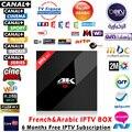 6 meses Francés España Caja de IPTV En Vivo TV Cine 1150 + Canales más H96 pro + 4 K S912 3 GB + 32 GB Android 6.0 HDMI Smart TV Media Player