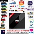 6 months French Spain Live TV Cine IPTV Box 1150+ plus Channels H96 pro+ 4K S912 3GB+32GB Android 6.0 HDMI Smart TV Media Player