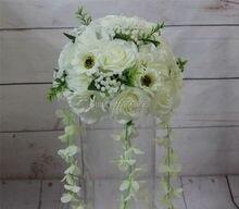 2018ลูกบอลดอกไม้งานแต่งงานถนนแต่งงานนำดอกไม้ดอกรักกุหลาบเชิงเทียนตารางกลางดอกไม้decoratioจัดส่งฟรี SPR