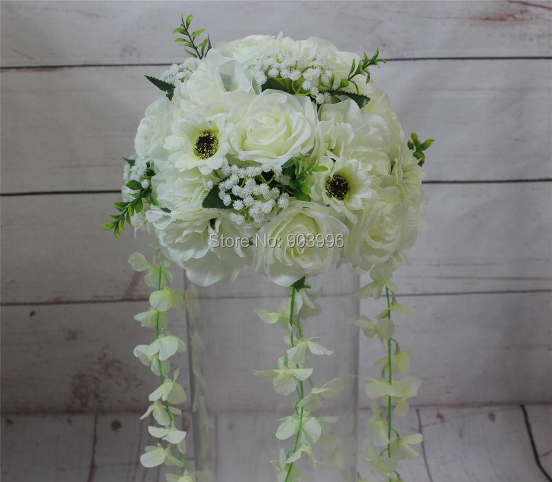 SPR 2018 bola de la flor de la boda camino de la boda flor de plomo - Para fiestas y celebraciones