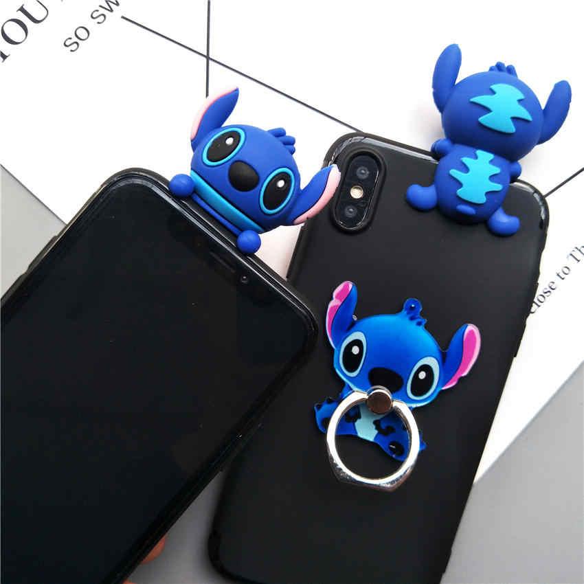 Cute 3D Stitch Cartoon Phone Case For Huawei Nova 3i Nova 3 i Case Stand  Holder Soft Silicone Back Cover For Huawei Nova 3i Case
