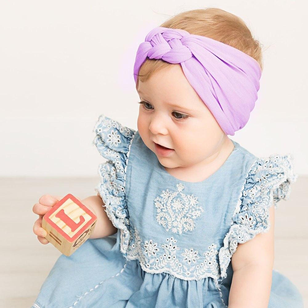 Cute Kids Baby Girls Summer Turban Knot Headband Hair Band Accessories Headwear