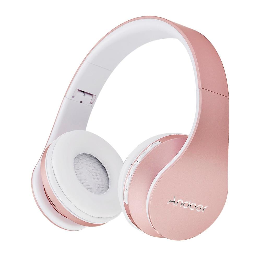 Ship from RU/US Best Selling Andoer Wireless Headphones Stereo Bluetooth 4.1 EDR Headset Card MP3 player Earphone FM Radio 3