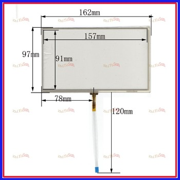 ZhiYuSun compatible XWT214 7.1inch 4 line For Car DVD touch screen panel for radio car 162mm*97mm FreeShipping image