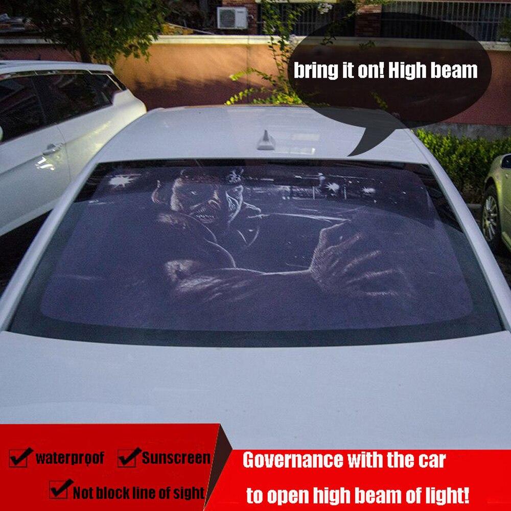 130 cm X 70 cm intéressant voiture arrière pare-brise fenêtre décoration autocollant film unique trou autocollants accessoires horreur modélisation de voiture