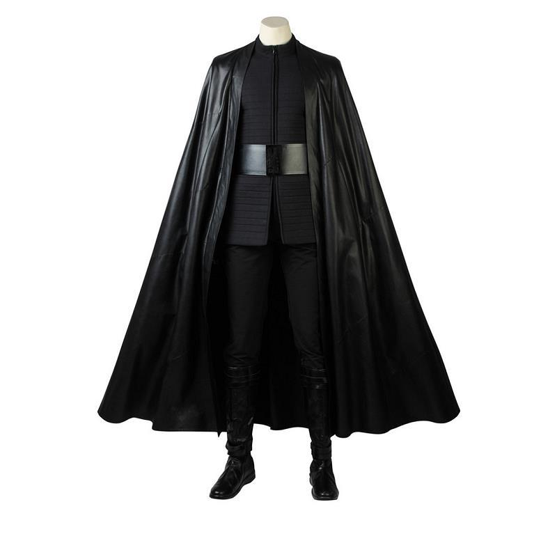 New Year Star Wars The Last Jedi Kylo Ren Cosplay Costumes Outfits Halloween Pants With Cloak Cape Clothing Custom Made For Men