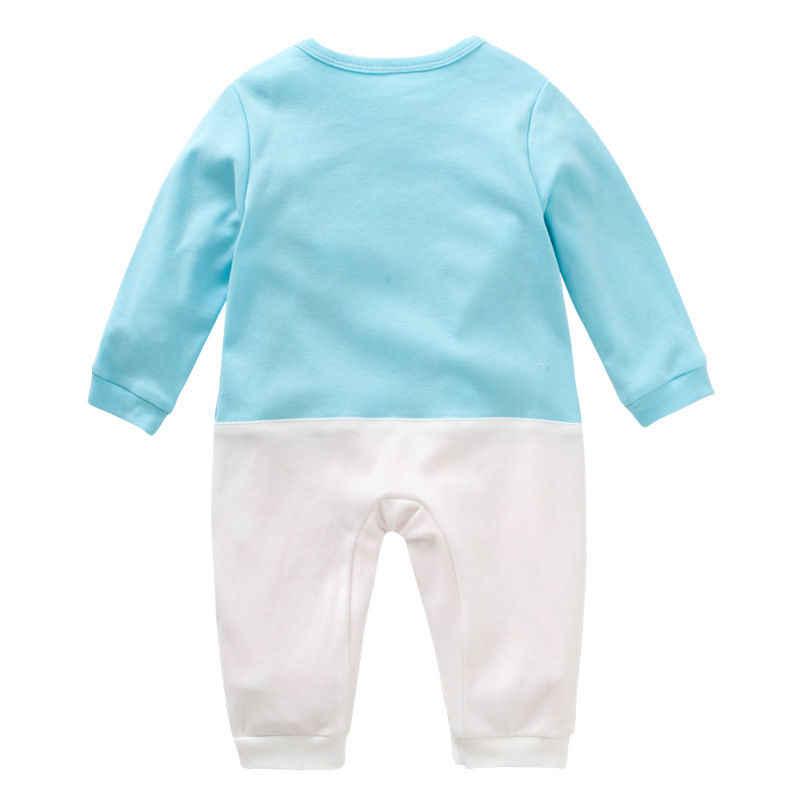 Осенняя одежда для новорожденных; детские комбинезоны с рисунком кролика; одежда с длинными рукавами для маленьких девочек; комбинезоны; костюм для младенцев