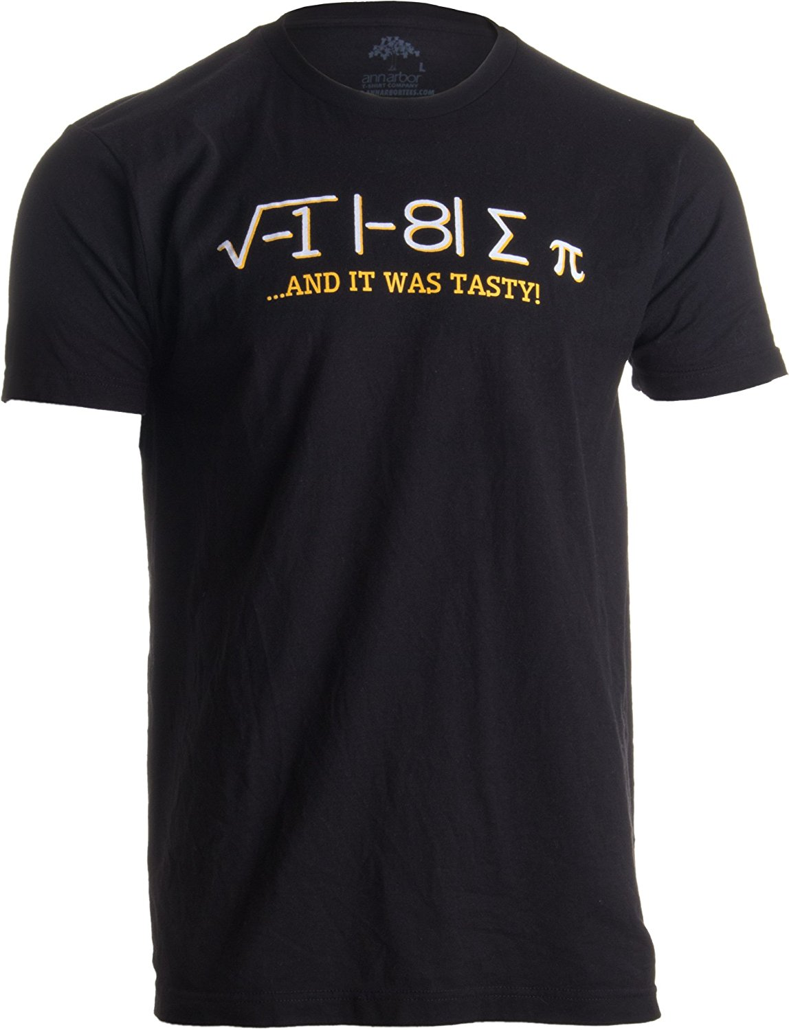 Ann Arbor T-shirt Co. I Ate Some Pi, and it was Tasty  Funny Delicious Math Teacher Humor Pun T-shirt
