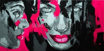 Palette knife painting portrait Palette knife Face Oil painting Impasto figure on canvas Hand painted Francoise Nielly 24
