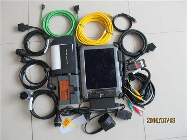 For BMW ICOM A2 B C Diagnostic Tool + MB STAR C4 SD Connect +2 mini ssd for icom a2&C4 Software+Rugged IXplore IX104 Tablet