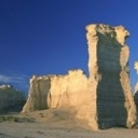 US $12 86 |Rock formations on a landscape Monument Rocks Gove County Kansas  USA Poster Print (18 x 7)-in Plaques & Signs from Home & Garden on